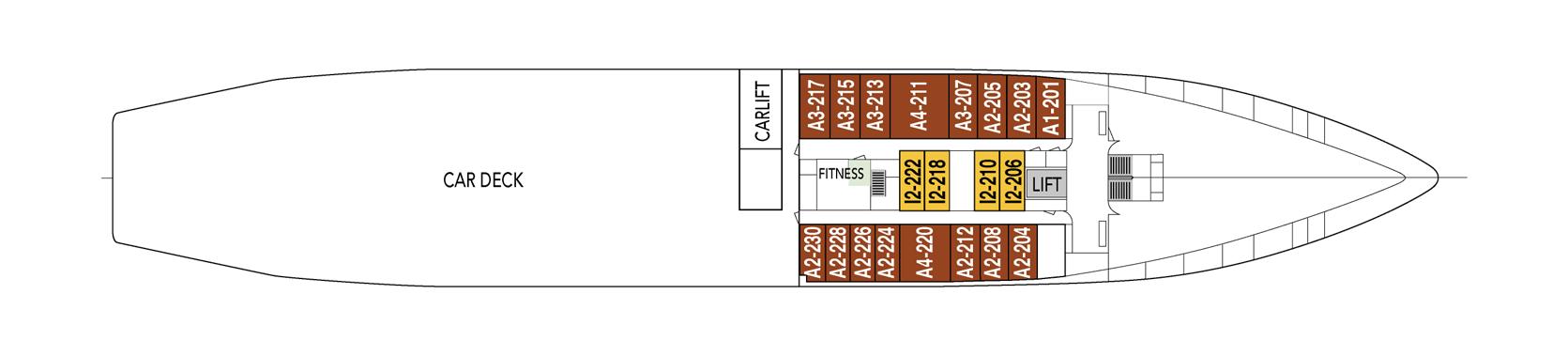 Hurtigruten MS Vesteralen Deck Plans Deck B.png
