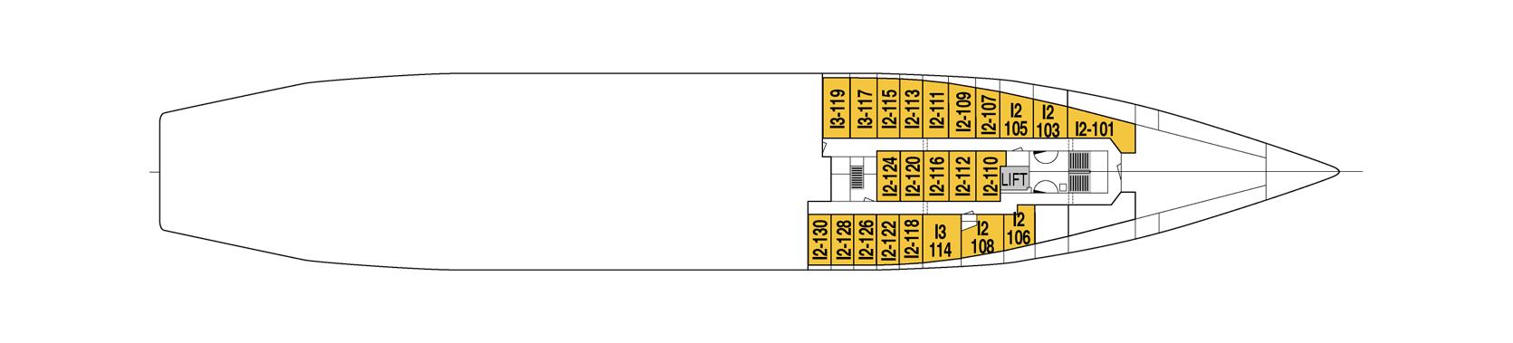 Hurtigruten MS Vesteralen Deck Plans Deck A.png
