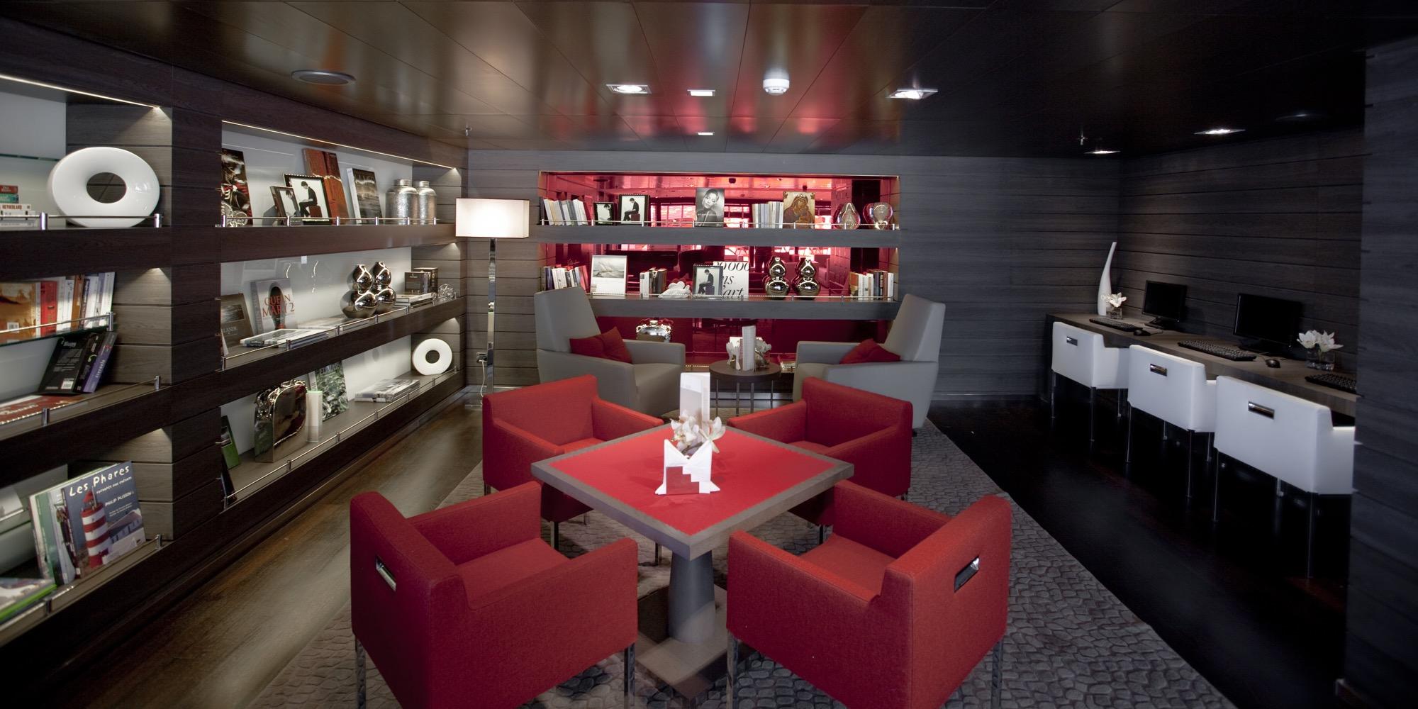 Ponant Le Boreal Interior Panoramic Lounge Library Internet Corner.JPEG
