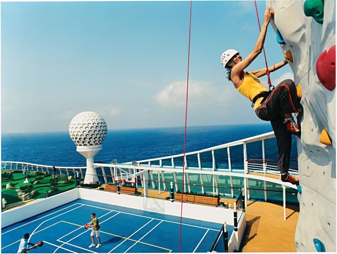 Royal Caribbean International Independence of the Seas rock climbing wall.jpg