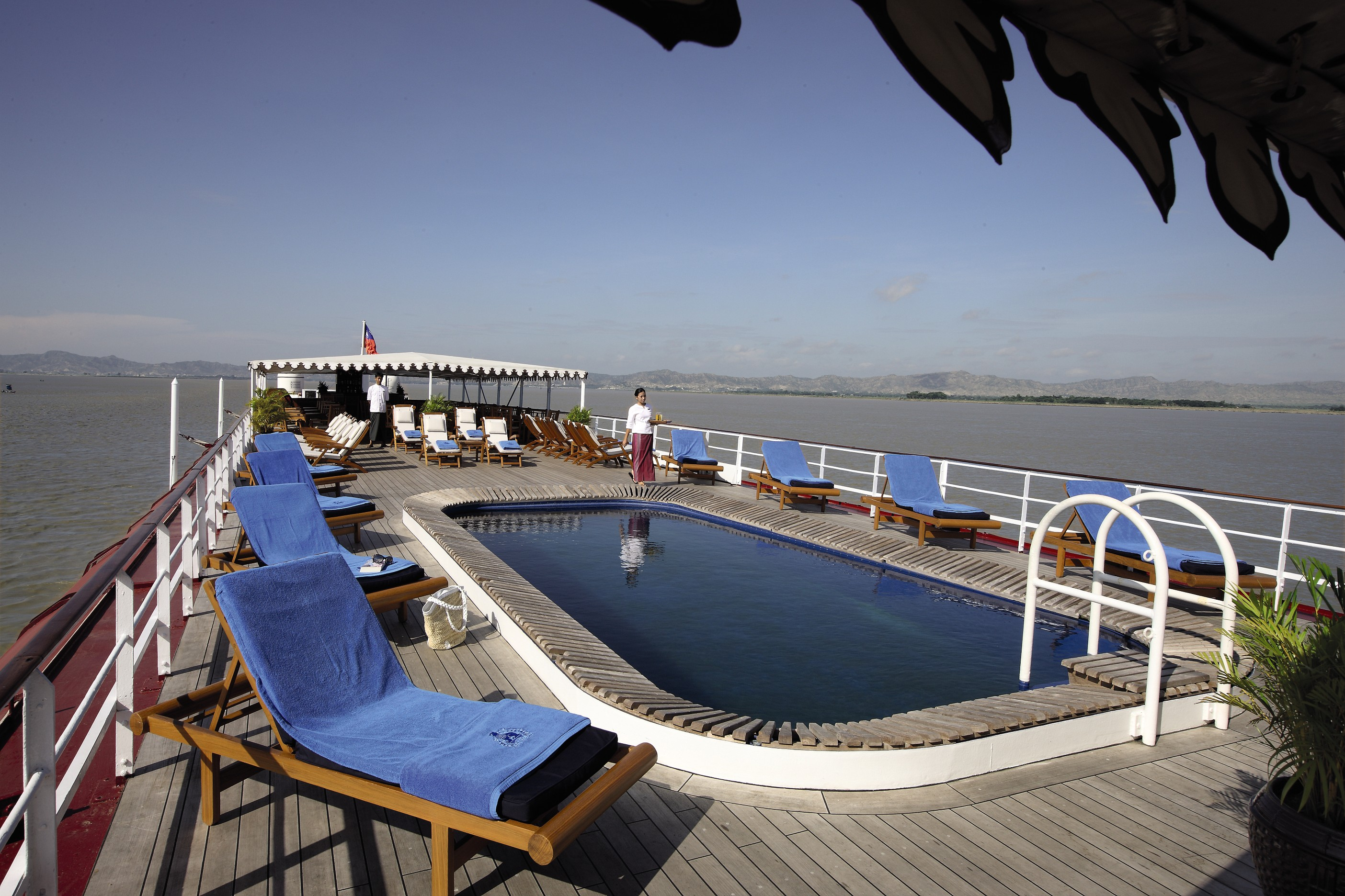 Belmond River Cruises Road to Mandalay Exterior Pool 06.jpg