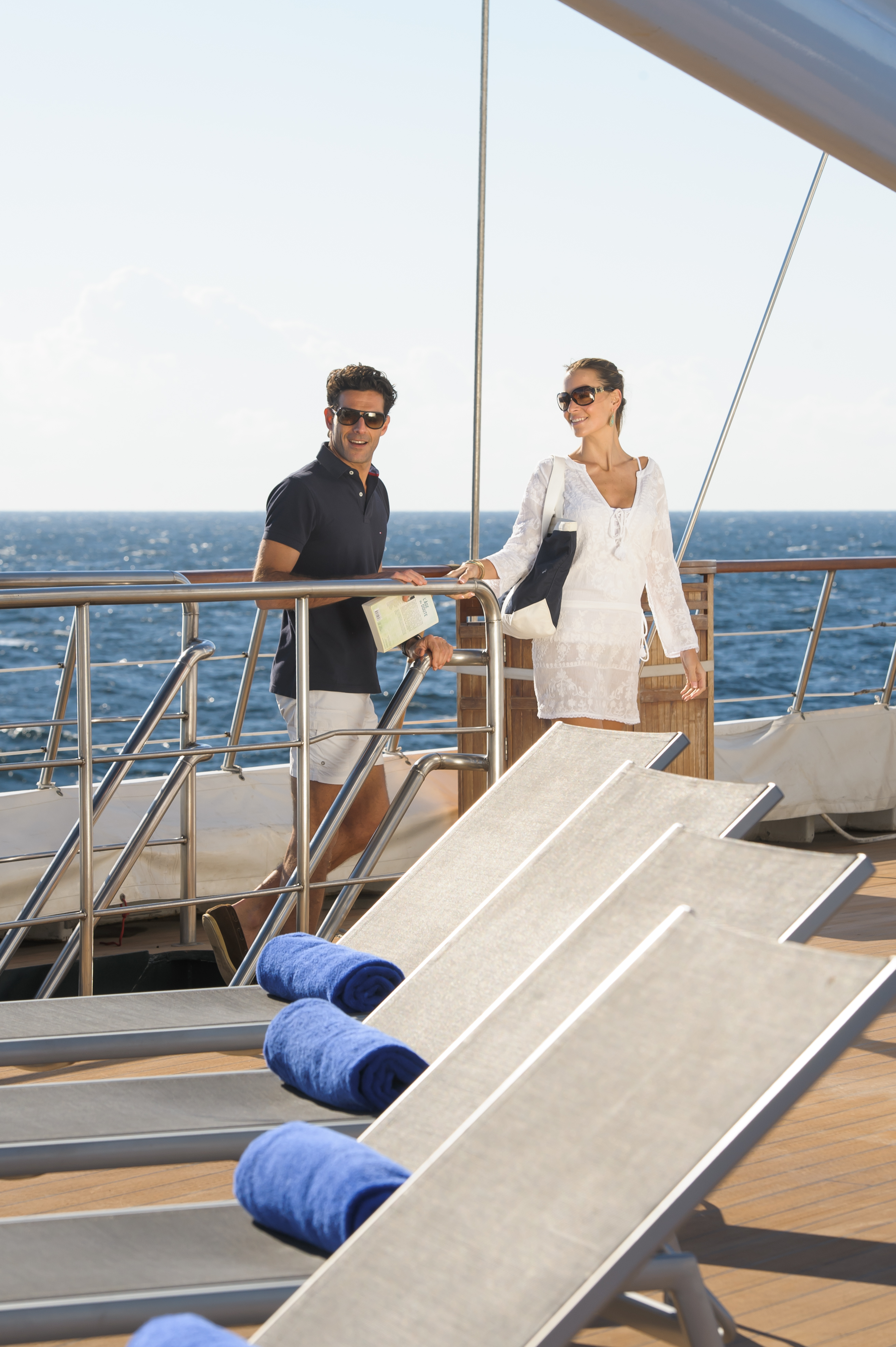 Ponant Le Ponant Exterior Couple on Deck 12.JPEG