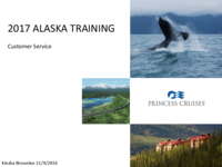 Princess Cruises 2017 Alaska Training