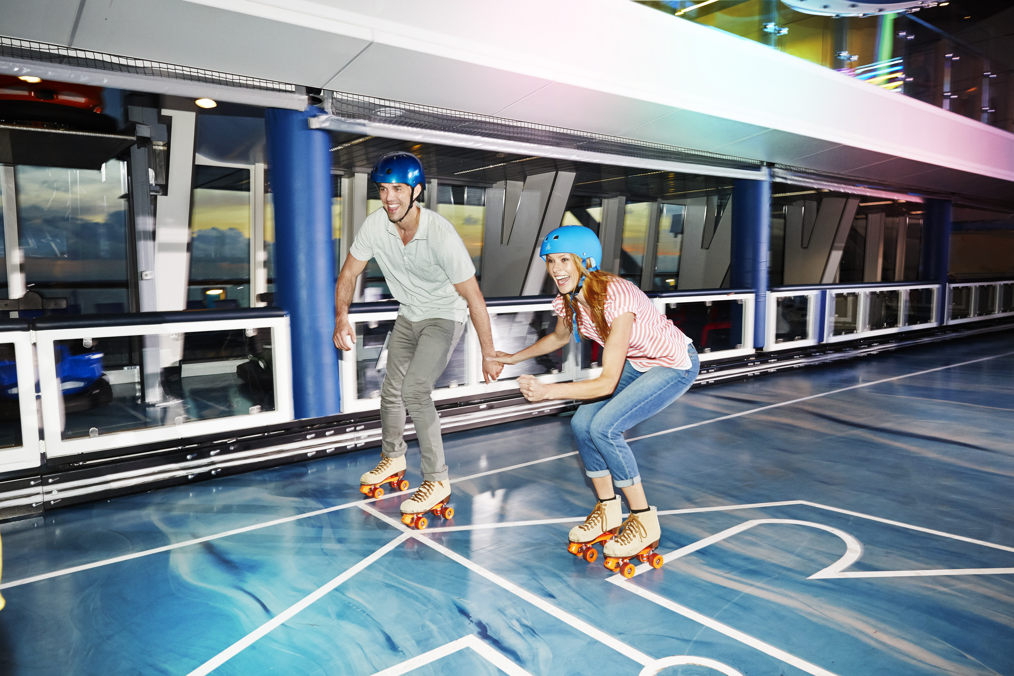 Royal Caribbean Anthem of the Seas Interior Seaplex Rollerskating 2.jpg