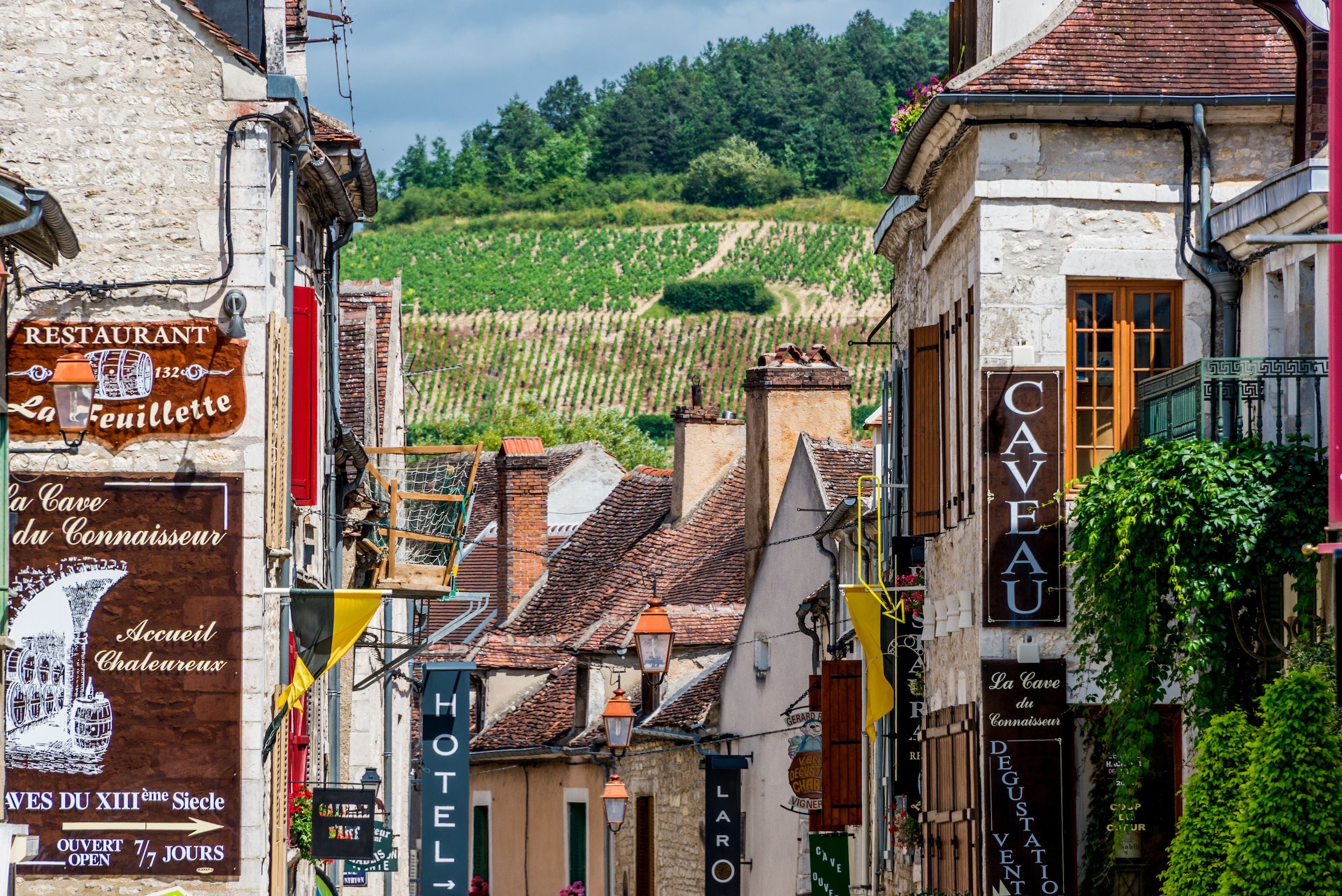 European Waterways L'Art de Vivre Destinations Chablis Streets with Vineyards.jpg