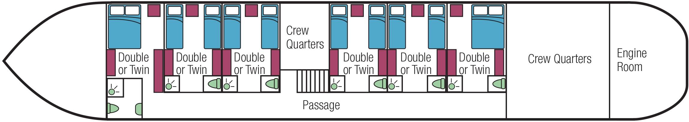 European Waterways Savoir Faire Deckplans Lower Deck.jpg