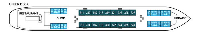 Noble Caledonia Rakhmaninov Deck Plan Upper Deck.png