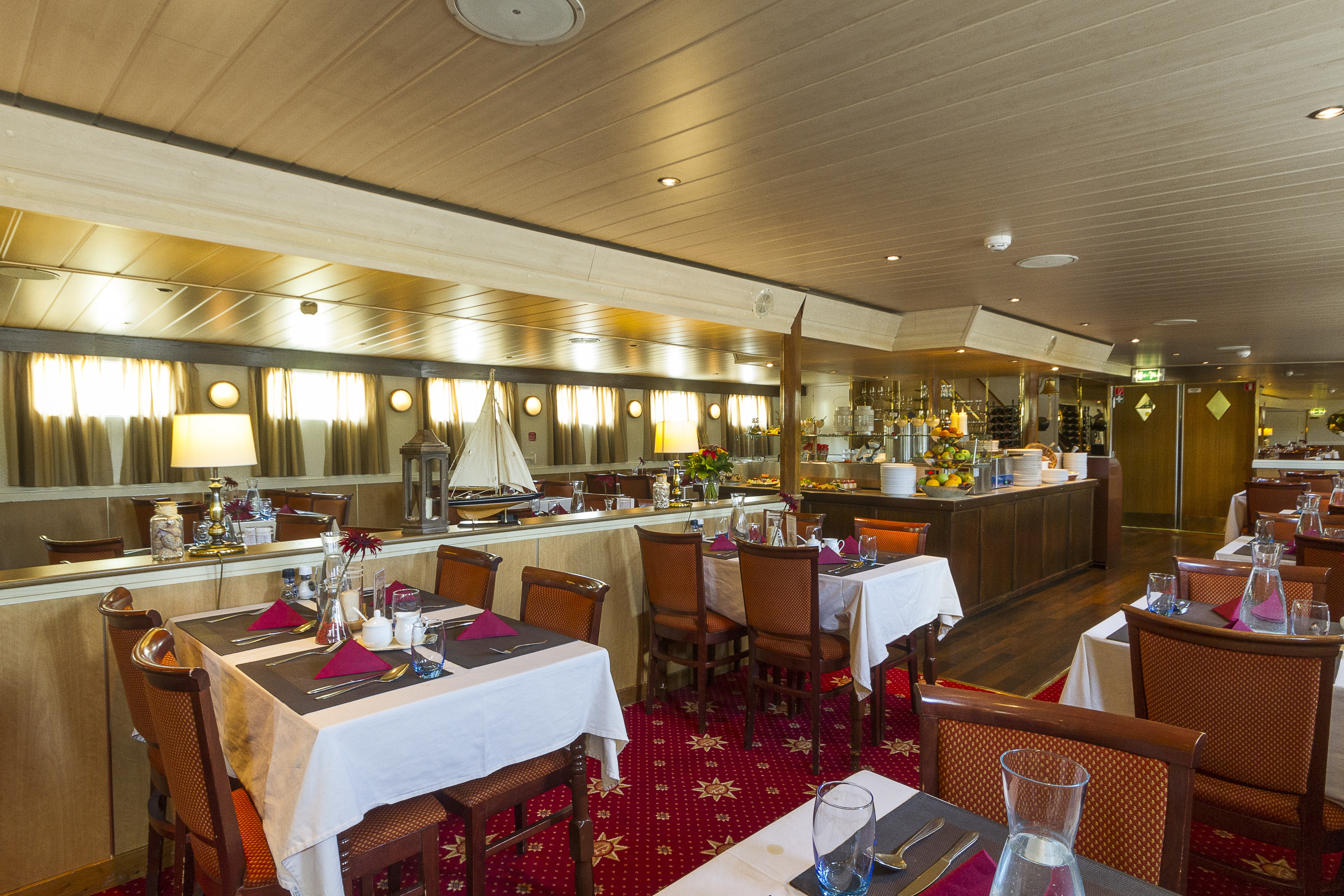 The River Cruise Line MPS Lady Anne Interior Restaurant 2.jpg