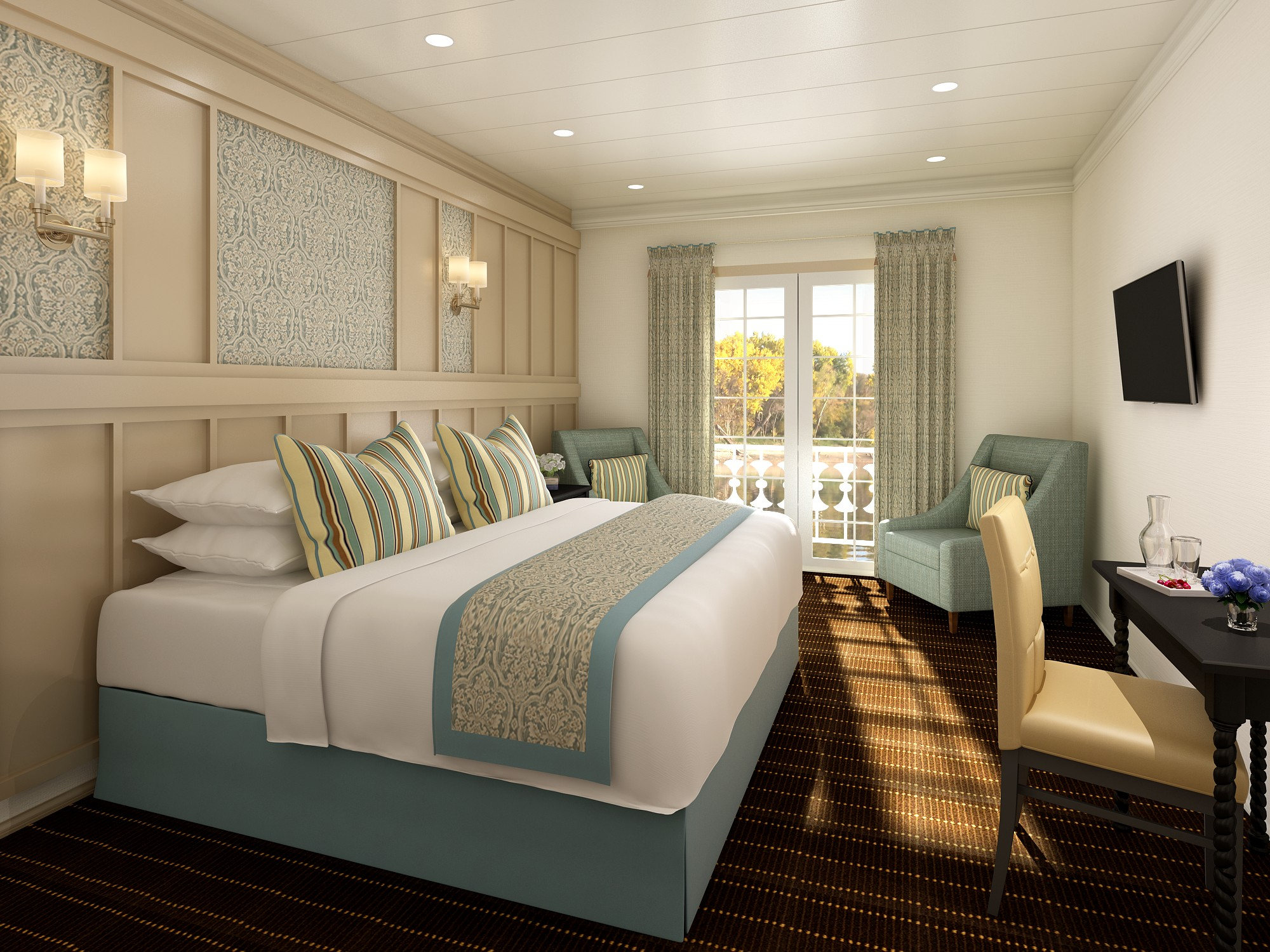 French America Line LouisianeFrench America Line Lousiana French America Line French Balcony Stateroom Persepective.jpg
