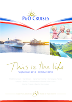 P&O Cruises Sept 2016 Oct 2018 Brochure