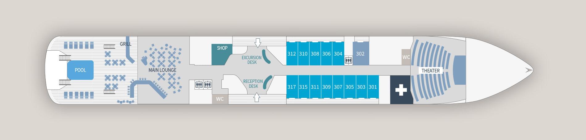 Ponant Le Laperouse Deck Plans Deck 3.jpg