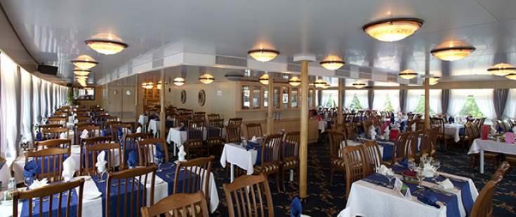 The River Cruise Line MS Chernishevsky Interior Restaurant.jpg