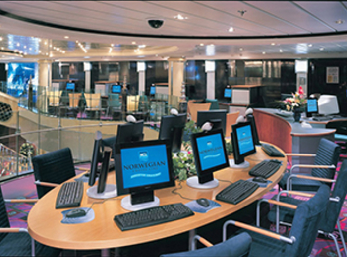 Norwegian Cruise Line Norwegian Dawn Interior Internet Cafe.jpg