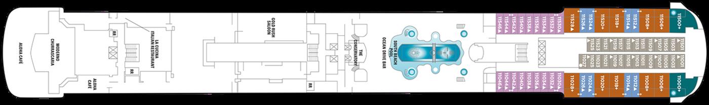 Norwegian Cruise Line Pride of America Deck Plans Deck 11.png