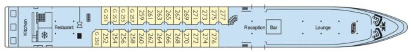 CroisiEurope MS Douce France Deck Plans Upper Deck.jpg