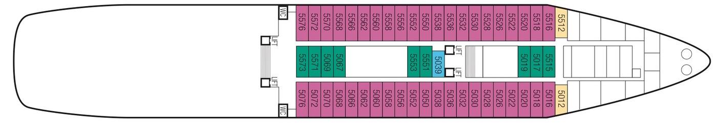 Saga Cruises Saga Sapphire Deck Plans Deck 5.jpeg