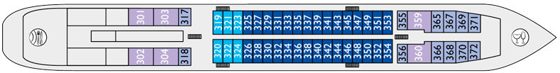 Nicko Cruises MS Fedin Deck Plans Middle Deck.png