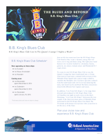 Holland America Bb King Blues Club Flyer
