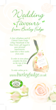 Burley fudge wedding favour