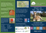 New forest centre what s on apr sep 2017