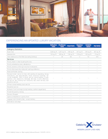 Celebrity Cruises Suite Amenities Flyer